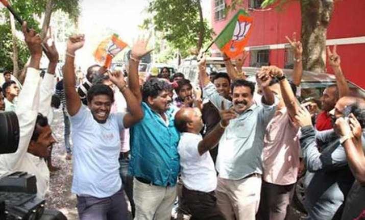 bjp wins bengaluru civic polls pm modi hails hat trick of