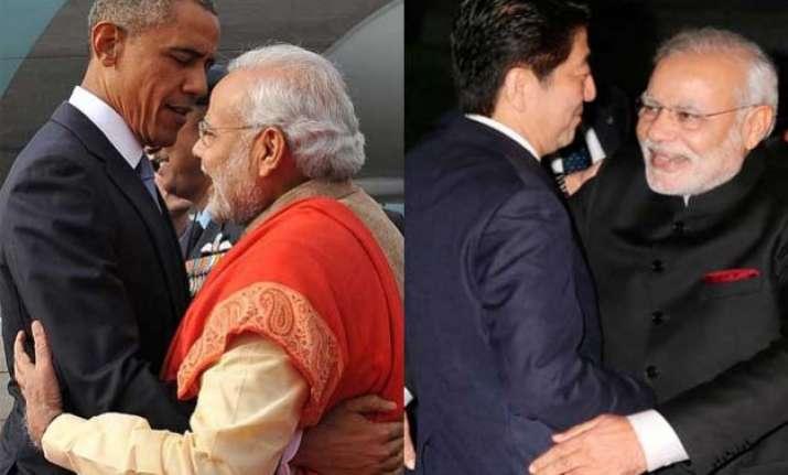top 5 jaadu ki jhappi moments of pm narendra modi in last 1