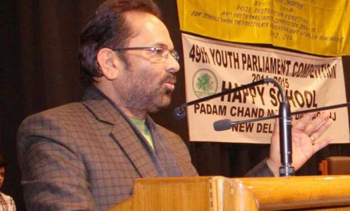 centre committed to development of minorities naqvi