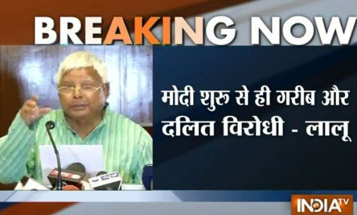 bihar polls lalu questions pm modi s silence on reservation