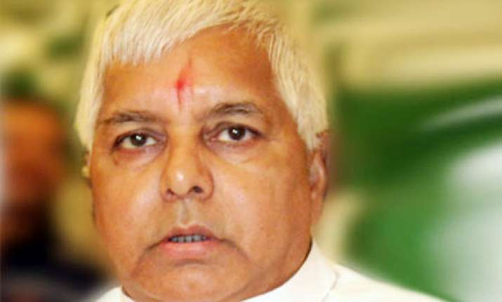 sudarshan must apologize to nation says lalu
