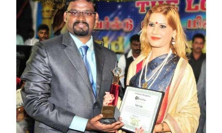 bjp leader ruby yadav honoured with world peace award