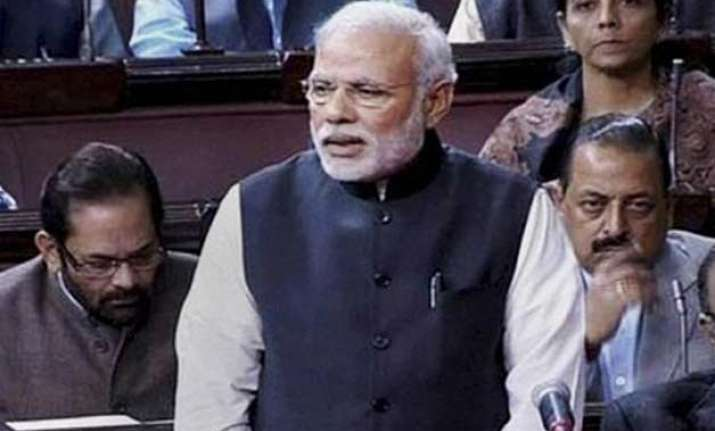 modi answers all accusations of opposition in rajya sabha