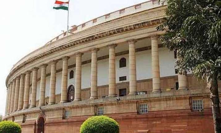 rajya sabha adjourns till noon following congress protest
