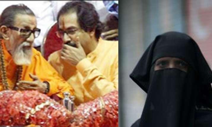 ban burqa demands shiv sena