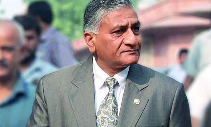 v k singh apologises to media with a caveat