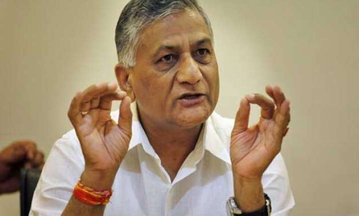 v k singh offers to resign from union cabinet