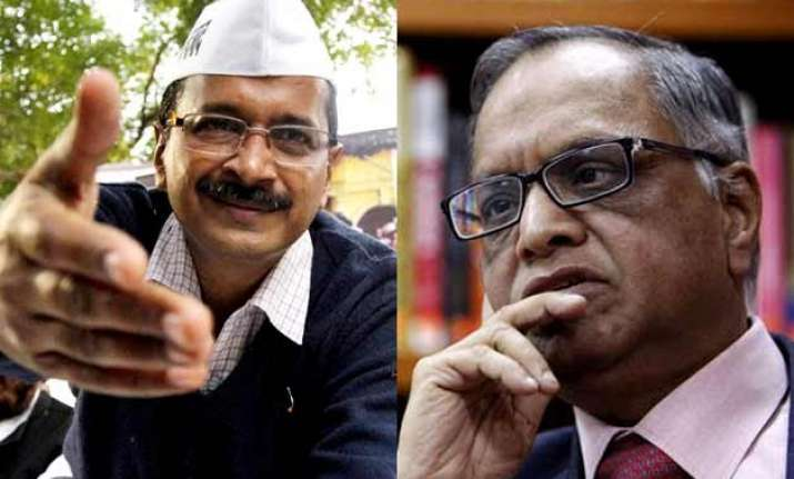 infosys founder narayana murthy to join aap