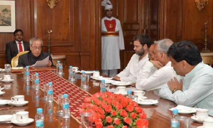 ftii row rahul gandhi meets president seeks removal of