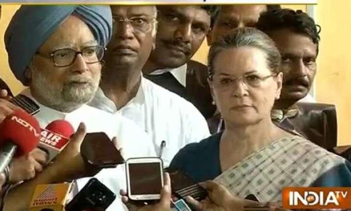 murder of democracy says sonia gandhi on mps suspension