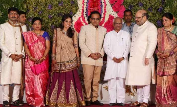 amit shah busy with sons wedding on delhi results day pm