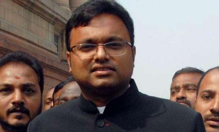 congress serves show cause notice to karti chidambaram for