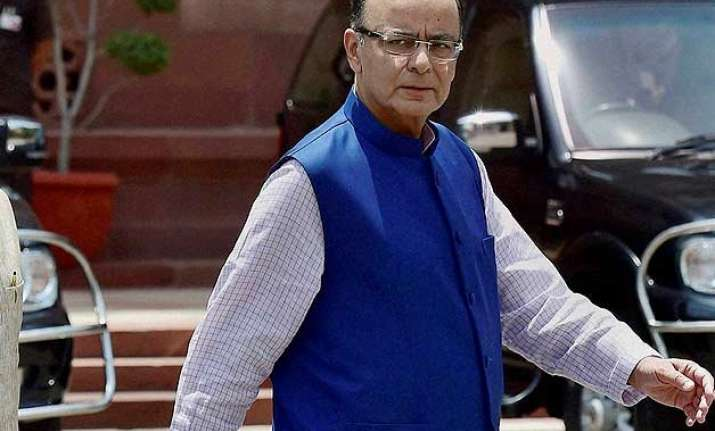 arun jaitley accuses congress of blocking gst for political