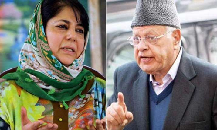 mehbooba mufti calls pdp meet today nc says open to tie up
