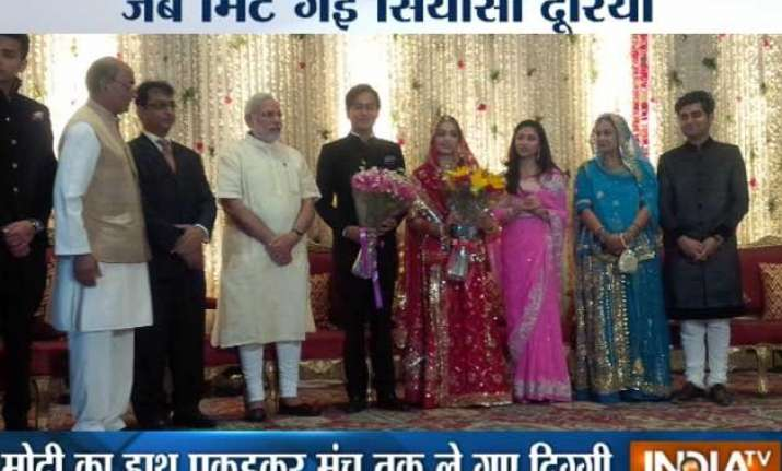 in pics when modi walked hand in hand with his biggest