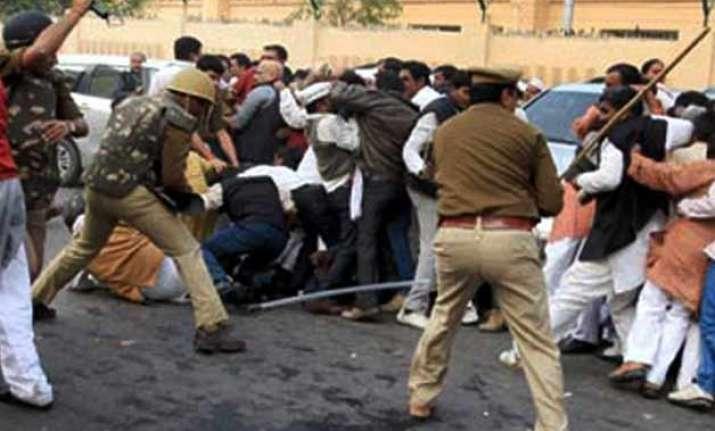 congress mlas disrupt uttar pradesh assembly over cane