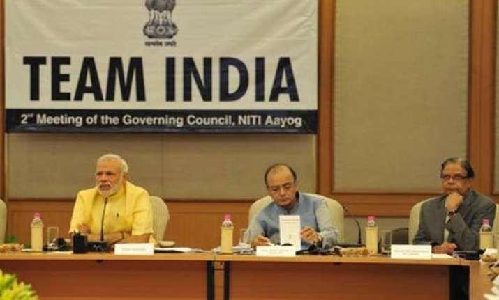 pm modi chairs niti aayog meet congress cms mamata give it
