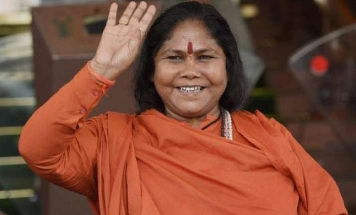 police complaint filed against sadhvi jyoti for allegedly