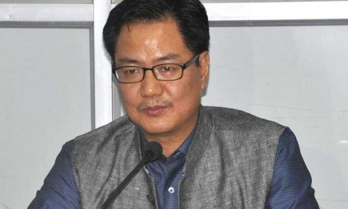 kejriwal only wants drama we believe in governance rijiju