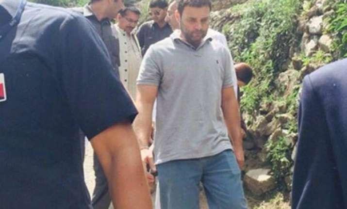 felt fire like energy says rahul gandhi after visiting