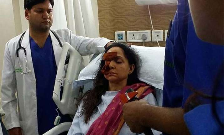 exclusive pics of hema malini after surgery