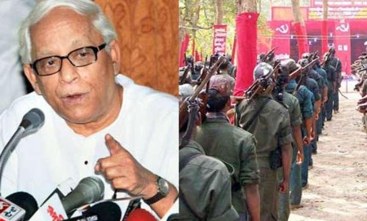 maoists are terrorists says buddhadeb