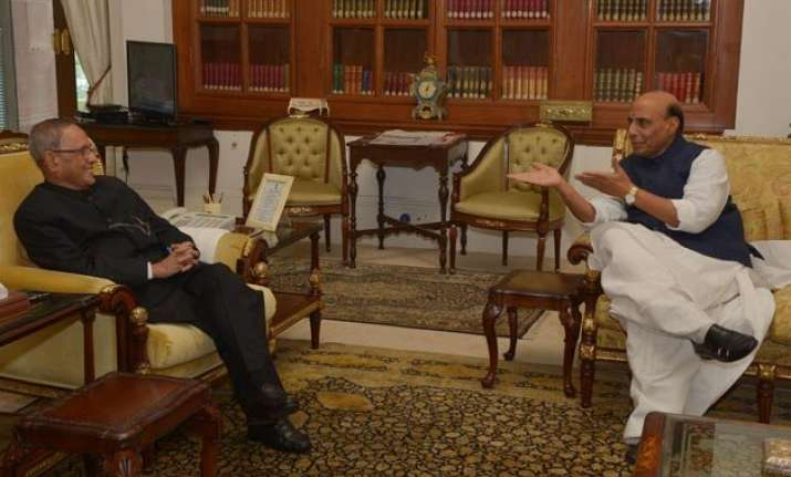 vyapam scam rajnath meets president amid talks of mp