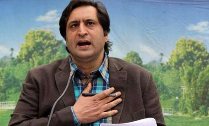 Image result for Sajad Lone, J&KPeople's Conference chief