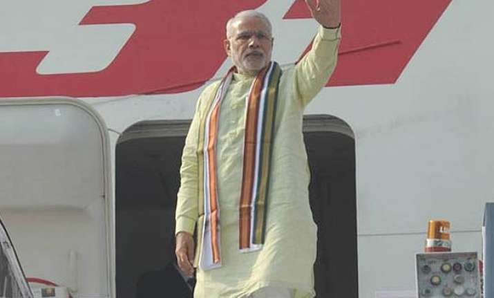 pm modi heads home after three nation tour