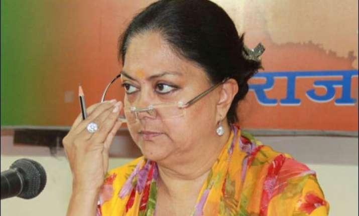 congress asks president to sack rajasthan cm vasundhara raje