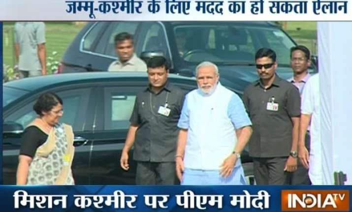 pm arrives in jammu on day long visit