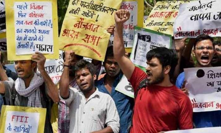 ftii row govt gets tough asks students focus on academics