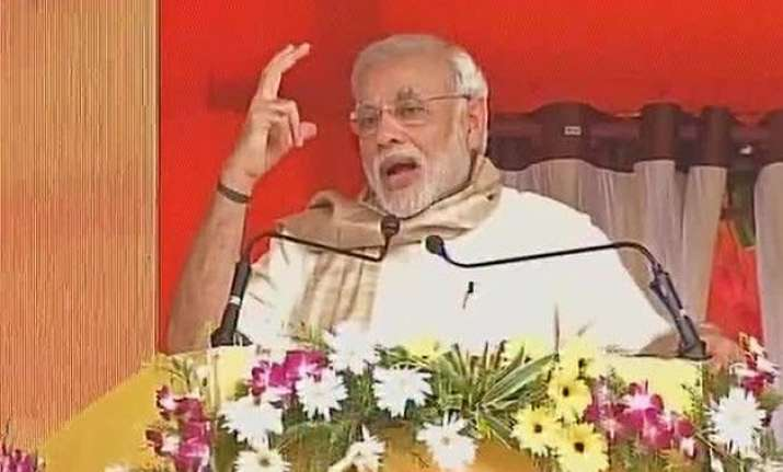 politics hampered development of bihar pm modi