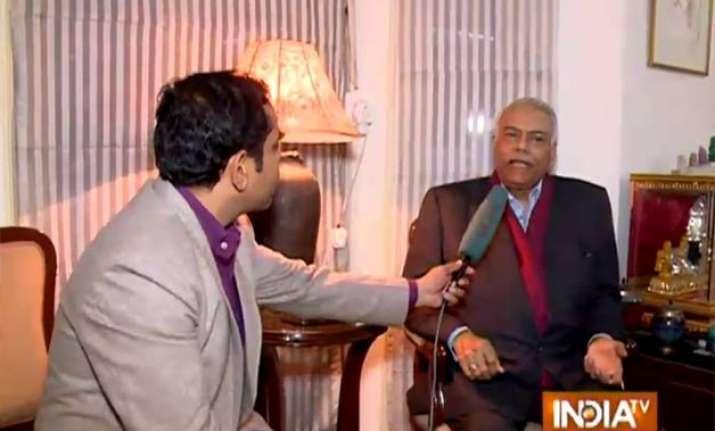 yashwant sinha unhappy over resumption of dialogue between