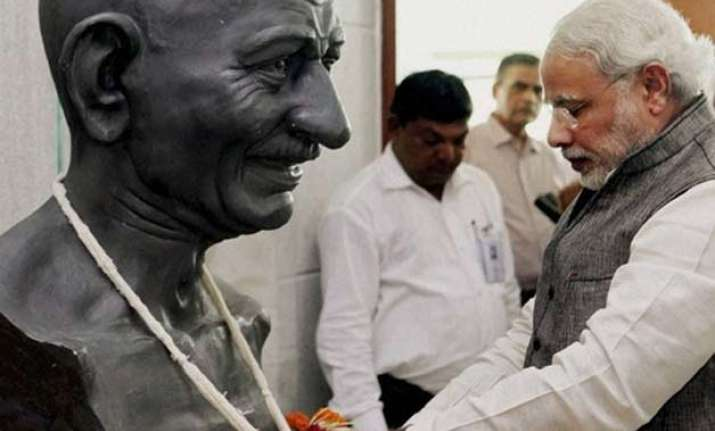 mahatma gandhiji s ideals are extremely relevant today pm