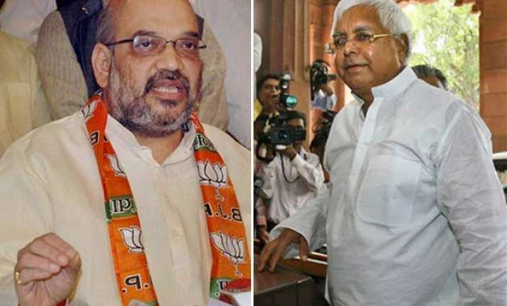 lalu yadav amit shah booked for use of abusive words