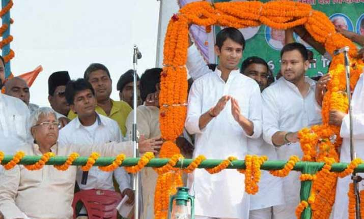 bihar polls lalu s younger son is older than elder one