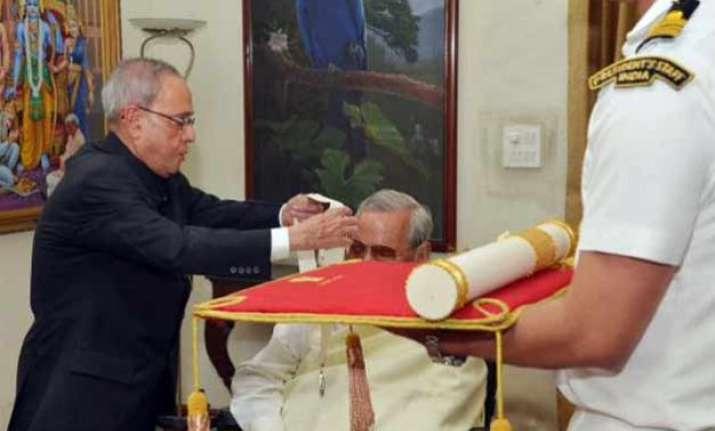 former pm atal bihari vajpayee receives bharat ratna from