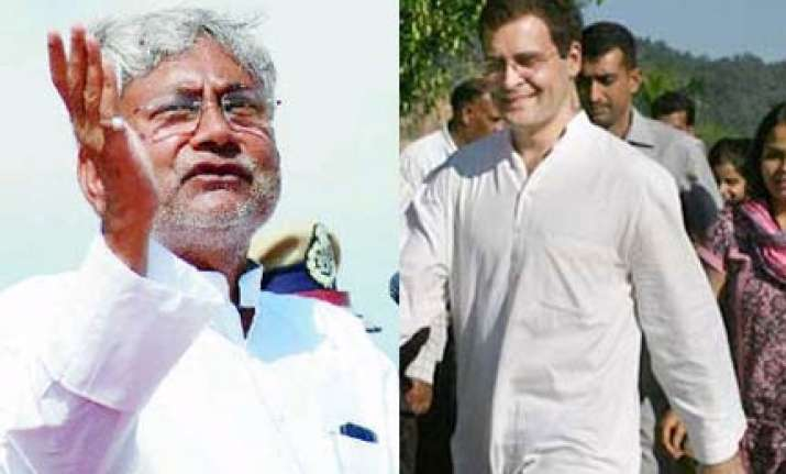 rahul should be cm first before aspiring to be pm nitish