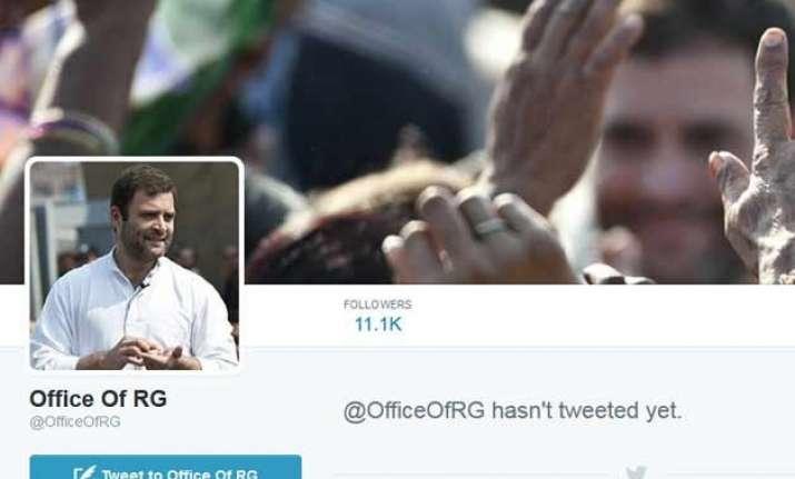 congress scion rahul gandhi comes on twitter