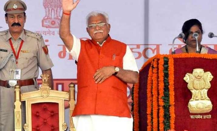 at a glance haryana cm manohar lal khattar s cabinet