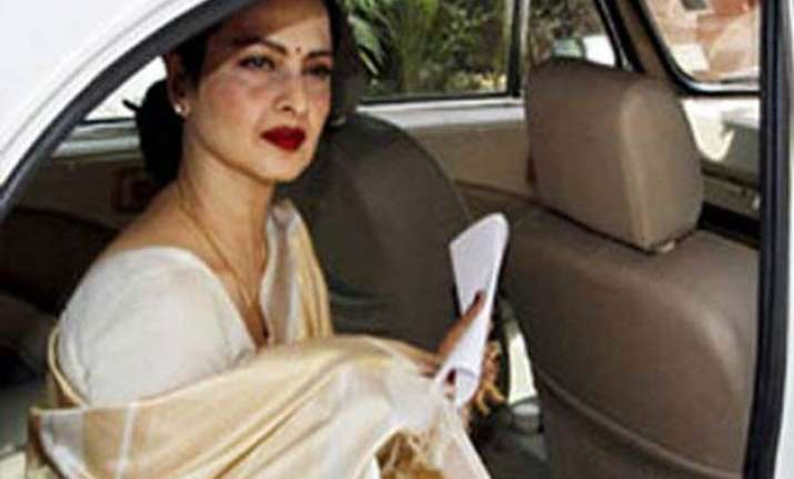 veteran actress rekha attends rajya sabha proceedings for