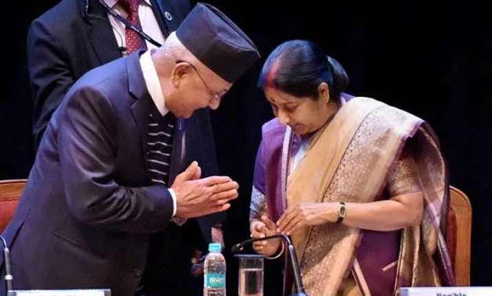 india is nepal s elder brother not big brother sushma swaraj