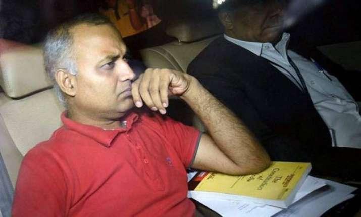 domestic violence case somnath bharti s police custody till