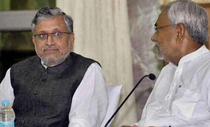 sushil modi accuses nitish kumar of hiding crime data for