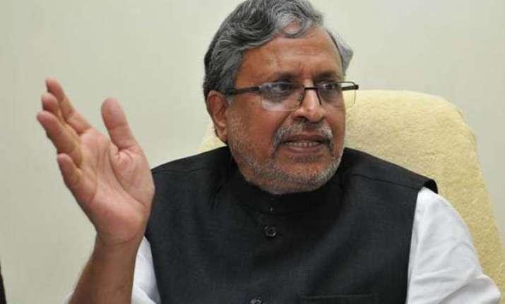 nitish solely responsible for bihar crisis bjp