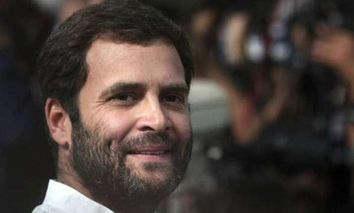 rahul to begin 3 day amethi visit on may 18