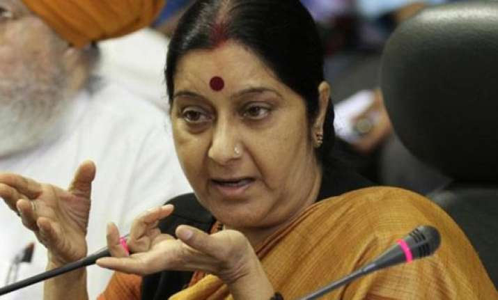 sushma swaraj campaigns for her sister in safidon