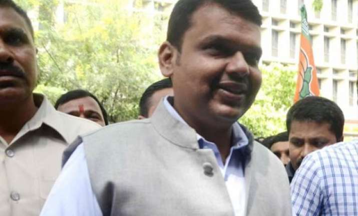 devendra fadnavis in delhi today to invite senior bjp