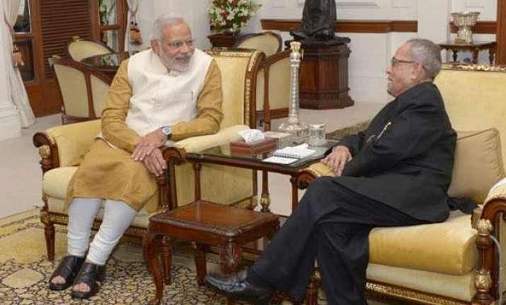 president pranab mukherjee pm narendra modi to attend
